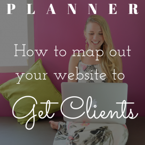 Map out your website to get clients